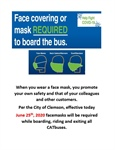 Face Coverings Required to Board